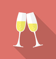 Glasses of champagne Flat style icon vector image