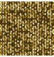 Gold triangle background vector image vector image