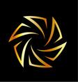 Golden aperture logo vector image