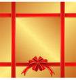 golden background with red ribbons vector image