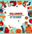 halloween soon flat background vector image vector image