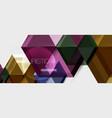 hexagon business presentation or brochure vector image vector image
