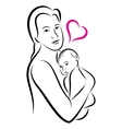 holy union mother and child love family vector image
