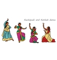 indian dancers vector image vector image