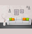 interior realistic composition vector image