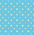 light blue pattern with polka dots vector image