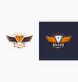 logo and the wings template for your vector image