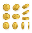 ltc litecoin gold coins set isolated on white vector image