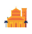 mediterranean classic cathedral or church vector image vector image