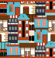 old house seamless pattern modern cottege vector image vector image