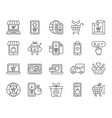 online shop simple black line icons set vector image vector image