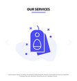 our services tag egg easter nature solid glyph vector image