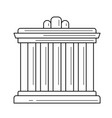 palace athens line icon vector image