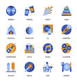 party icons set in flat style vector image vector image