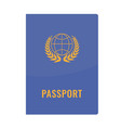 passport cover front view solid and flat color vector image vector image