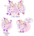pink dancing sheep vector image vector image