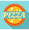 pizza label logo flat style vector image
