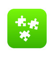 puzzle icon digital green vector image