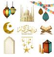 ramadan kareem realistic set vector image