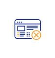 reject web page line icon no internet sign vector image vector image