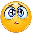 sad concerned emoticon vector image