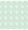 seamless baroque damask luxury turquoise vector image vector image