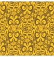 Seamless vintage yellow background vector image vector image