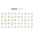 set line icons physics vector image vector image