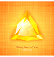 Shiny gemstone on textured background vector image vector image