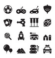 silhouette toy icons vector image