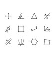 simple set geometric figures line icon vector image vector image