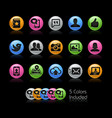 social web icons - gelcolor series vector image