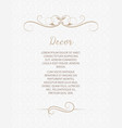 template for greeting cards invitations menus vector image vector image