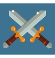 Two crossed Asia swords with gold handles vector image vector image