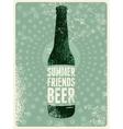 Typographic vintage grunge beer poster vector image vector image