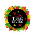 typography happy thanksgiving vector image vector image