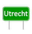 Utrecht road sign vector image vector image
