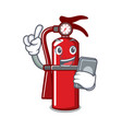 with phone fire extinguisher character cartoon vector image