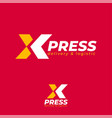 xpress logo express logo logistic and delivery vector image vector image