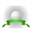 Golf ball with ribbon vector image