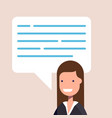 happy businesswoman or manager in a flat style vector image