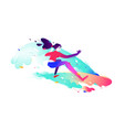 a surfer girl bright and harismatic girl vector image