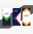 abstract geometric colorful banners set vector image vector image