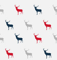 abstract seamless deer pattern background vector image vector image