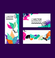 abstract trendy background placard floral vector image vector image