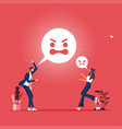 aggressive business peoples vector image