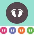 bafootprint icon vector image