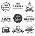 bakery badge fresh bread food label sweet cake vector image vector image