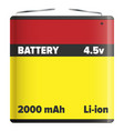 battery pack li-ion or lithium-ion isolated white vector image vector image