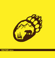 bear life in footprint vector image vector image
